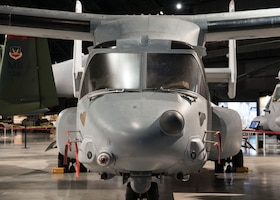 DAYTON, Ohio -- The Bell-Boeing CV-22B Osprey on display in the Cold War Gallery at the National Museum of the U.S. Air Force.(U.S. Air Force photo by Ken LaRock)