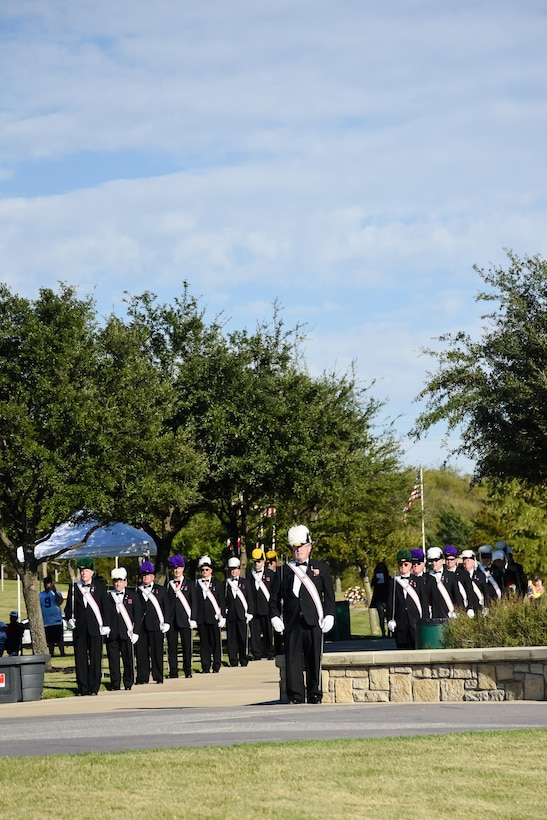 Major General Richard Scobee, Tenth Air Force Commander, delivered the keynote remarks at the DFW National Cemetery for Veterans Day.