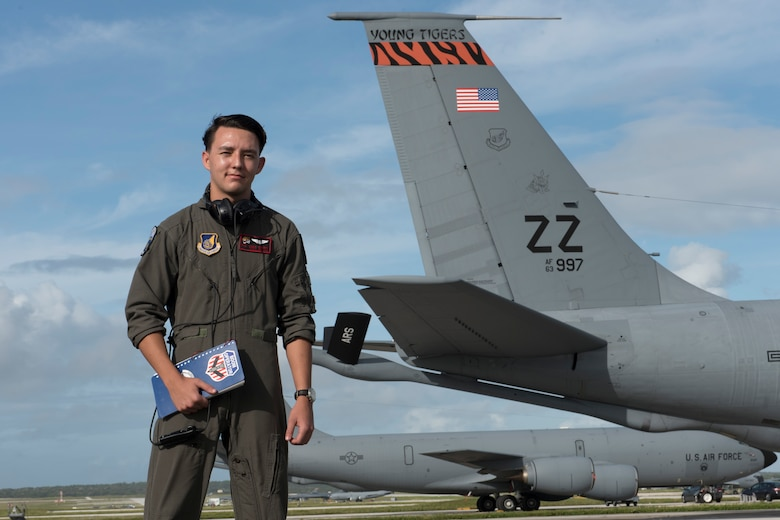 U.S. Air Force Airman 1st Class Joshua Tuckett, 18th Operations Support Squadron weather technician, is on Andersen Air Force Base, Guam, to participate in annual Exercise Cope North. Tuckett is responsible for providing essential weather information to aircrew and mission planers before every flight. Members of Kadena Air Base, Japan, are among 2,700 U.S. Airmen, Sailors and Marines who are training alongside approximately 600 combined JASDF and Royal Australian Air Force service members. (U.S. Air Force photo by Senior Airman John Linzmeier)