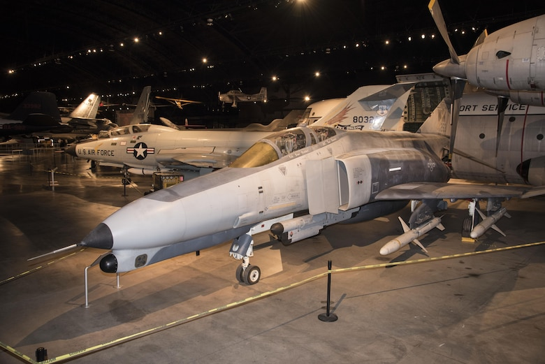 DAYTON, Ohio -- McDonnell Douglas F-4G Wild Weasel in the Cold War Gallery at the National Museum of the United States Air Force.  (U.S. Air Force photo by Ken LaRock)
