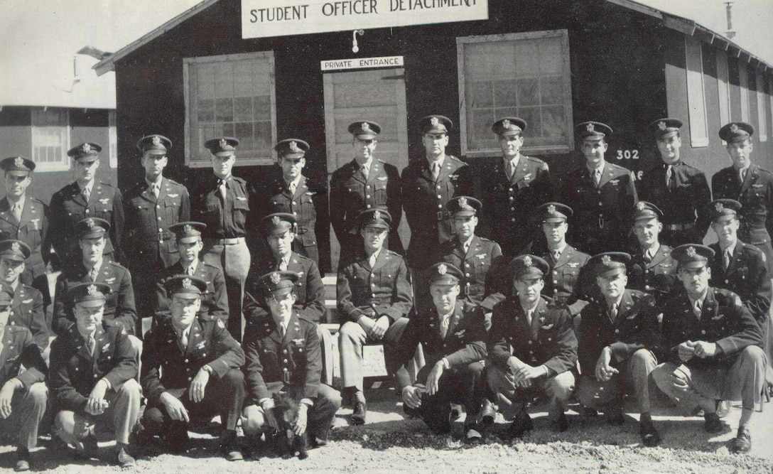 Pilot training graduates at Laughlin Air Force Base, Texas, in 1943. (Courtesy photo)