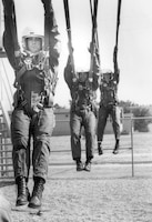 Student pilots in parachute training on Laughlin Air Force Base, Texas, in 1989. (Courtesy photo)