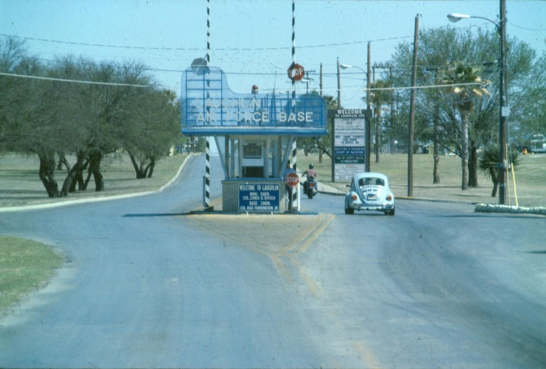 The main gate of Laughlin Air Force Base, Texas, in 1980. (Courtesy photo)