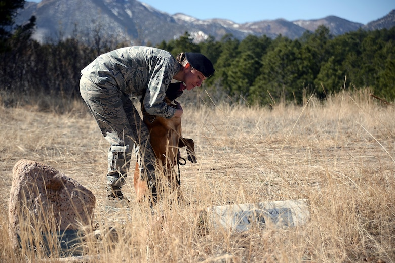 Staff Sgt. Melissa Burns, the Military Working Dog trainer for the