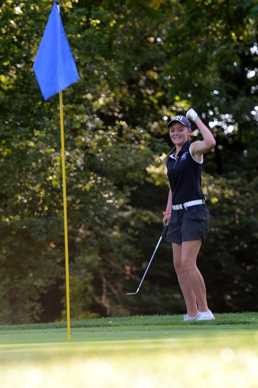 Molly Frey, a senior at Pickerington North High School, golfs at Groveport Country Club Sept. 22, 2016, in Groveport, Ohio. Frey recently won the 2017 National Guard Military Child of the Year award from Operation Homefront, a national nonprofit serving America's military families. (U.S. Air National Guard photo by Senior Master Sgt. Ralph Branson)
