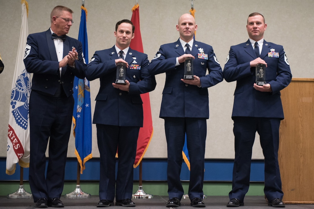The Kentucky National Guard's top service members were honored in the annual Kentucky Outstanding Soldier and Airman of the Year banquet at the Kentucky Far and Exposition Center, Louisville, Ky. on March 4, 2017. The winners were selected for their leadership and performance in their primary duties, dedication to self-improvement, and base and community involvement. (U.S. Air National Guard photo by Staff Sgt. Joshua Horton)