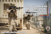 CMC Innovation Challenge, hosted by Training and Education Command, promotional poster. Challenge ends March 31. To submit ideas visit www.marines.mil/innovation or you can visit to review and vote on others' submissions.