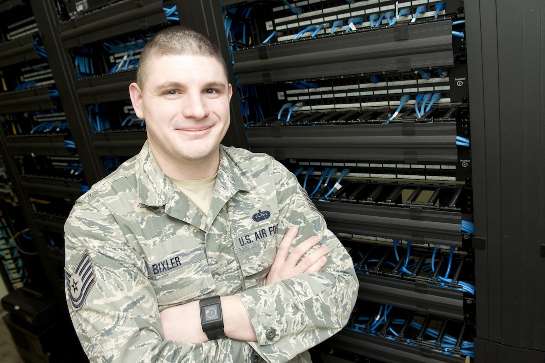 Tech. Sgt. Jacob Bixler, a cyber transport craftsman for the 167th Communications Flight, spent three months at Dover Air Force Base to provide support to their communications squadron during a gap in the active duty personnel assigned there. Bixler was instrumental to the success of a base network modernization project there.