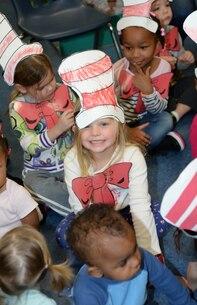 Marine Corps Logistics Base Albany's Child Development Center children participate in Read Across America,  March 3.