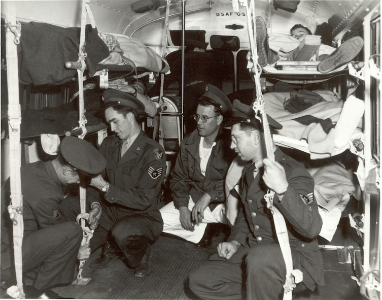In the early 1950s, not only was the Radio School in full swing, but the aeromedical evacuation mission was present as well. This would become even more important as Korean War casualties would transition through Scott AFB.