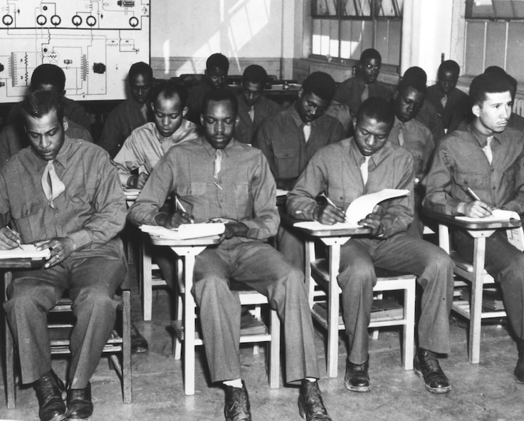 In January 1943, 330 black servicemen, assigned to the 46th Aviation Squadron, entered the Radio School, and in May 1943, they graduated, ready to help Tuskegee Airmen fly. These radio school graduates were a part of a bigger initiative of the Army Air Forces Technical Training Command to supply black flying squadrons with sufficient support personnel, including supply, adjutant, intelligence, and statistical officers.