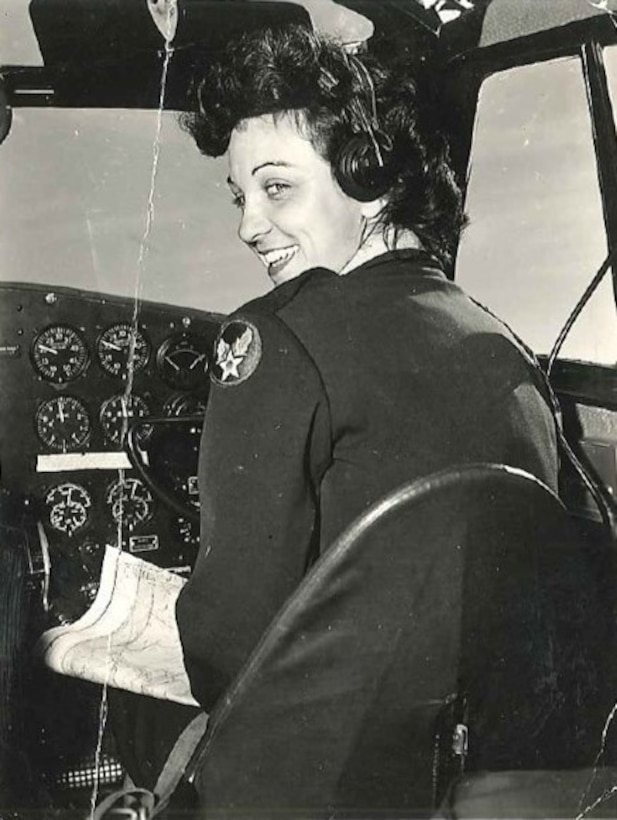 Lt. Mary Helen Gosnell, Women's Airforce Service pilot, c. 1944. (Courtesy photo)