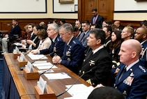 Air Force Vice Chief of Staff Gen. Stephen Wilson testifies before the House Armed Services Committee about nuclear deterrence in Washington, D.C., March 8, 2017.  (U.S. Air Force photo/Scott M. Ash)