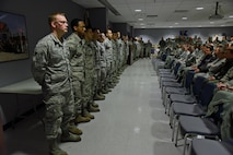 Stewart Air National Guard Base Newburgh, N.Y.(08 Jan 17)—Airmen from the 105th Airlift Wing gathered to show support for approximately 22 newly appointed non-commissioned officers Jan 07, 2017.