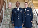 Maj. Gen. Mary Link, commanding general for Army Reserve Medical Command, and acting Cmd. Sgt. Maj. Amy Lugo join Sgt. Terrelle T. Fields, assigned to 7250th Medical Support Unit, who was selected as the Non-Commissioned Officer winner at the command-level Best Warrior Competition for 2017 held 1-5 March at Fort Benning, Georgia. The Best Warrior Competition recognizes Soldiers who demonstrate commitment to the Army values, embody the Warrior Ethos and represent the force of the future.