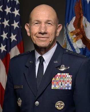 Official portrait Gen. James Holmes, taken in the Air Force portrait studio, Feb. 22, 2017, Pentagon, Va. (U.S. Air Force photo by Staff Sgt. Whitney Stanfield)Official portrait, HAF, SAF, PA, PAI, MAJ, BIO