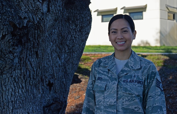 Staff Sgt. Christina Ott, 9th Medical Operations Squadron noncommissioned officer in charge of family health, poses for a photo, March 2, 2017. (U.S. Air Force photo/Airman 1st Class Tommy Wilbourn)