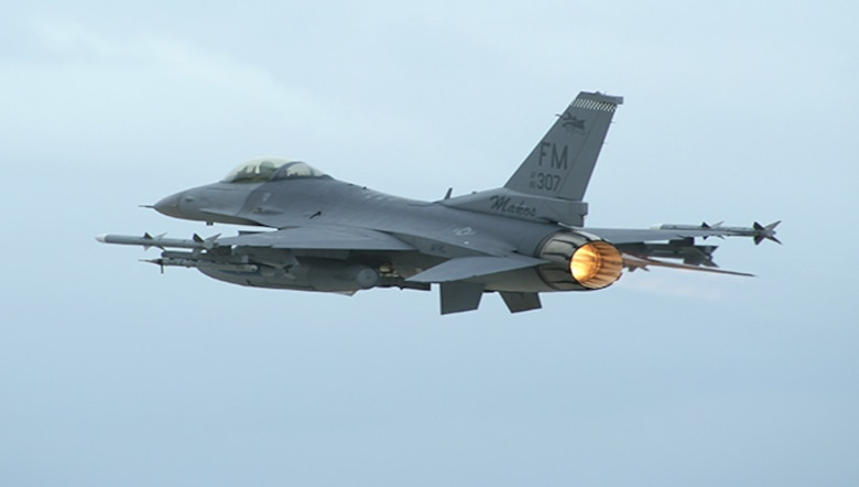 F-16 from Homestead Air Reserve Base, Fla.