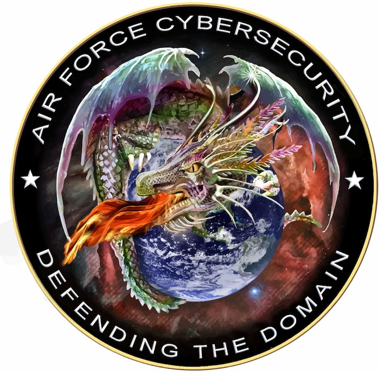 Air Force Cyber Security graphic.