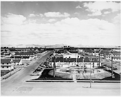 A view to the east from the control tower of Luke Field on Feb. 9, 1943, revealed completed construction of the base. (Courtesy Photo)