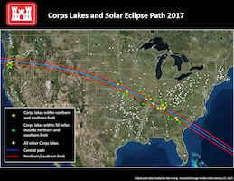 Corps lakes solar eclipse path 2017