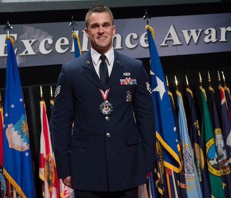 Congrats to Staff Sgt. Nathan Koenig, Air Force Test Center, on his selection as the Airman of the Year for Air Force Materiel Command.  (U.S. Air Force photo/Richard Oriez)