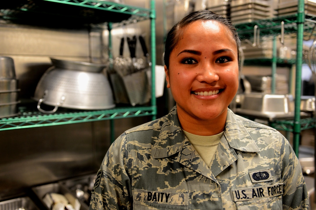 Staff Sgt. Tamra Baity, 9th Force Support Squadron storeroom non-commissioned officer in charge, poses for a photo, March 8, 2017. (U.S. Air Force photo/Staff Sgt. Jeffrey Schultze)