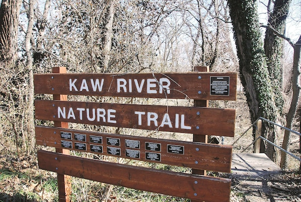 Kaw River Nature Trail is behind the First Territorial Capitol of Kansas. The self-guided trail is open from dawn to dusk and runs right along the river. The Kaw is popular for canoeing and kayaking, and has an access point almost every ten miles for its entire length. In 2012, it was added to the National Park Service's National Water Trail System.