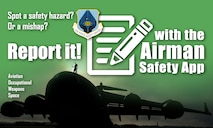 Members of the Hanscom community are now able to report safety issues, whether a hazard or mishap, through a web-based application developed by the Air Force Safety Center. The application, called the Airman Safety App, is located at https://asap.safety.af.mil. (U.S. Air Force graphic by Keith Wright)