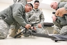 U.S. Army Reserve Soldiers practice assembling the mount for the M240B machine gun while conducting preliminary marksmanship instruction during Operation Cold Steel at Fort McCoy, Wis., March 12, 2017. Operation Cold Steel is the U.S. Army Reserve's crew-served weapons qualification and validation exercise to ensure that America's Army Reserve units and soldiers are trained and ready to deploy on short-notice and bring combat-ready and lethal firepower in support of the Army and our joint partners anywhere in the world. (U.S. Army Reserve photo by Staff Sgt. Debralee Best, 84th Training Command)