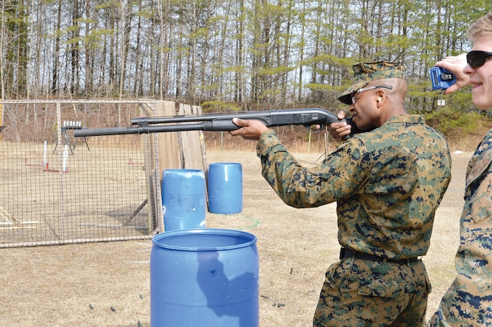 Sgt Maj Jonathan Henry, director SNCO Academy Okinawa particpates in a teambuilding event on February 23rd while at MCB Quantico.