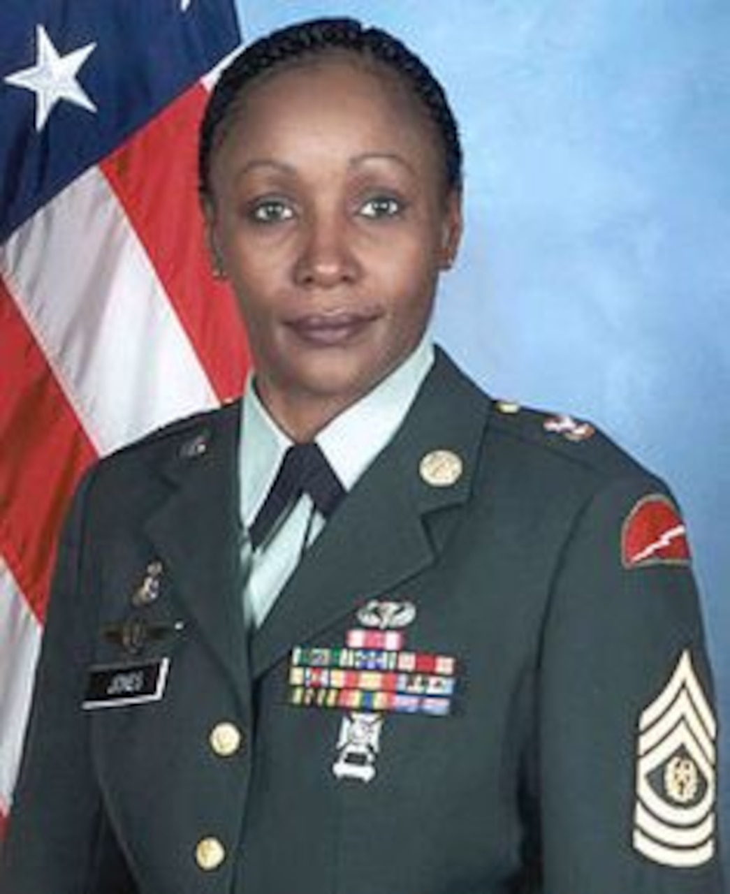 Sgt. Maj. Michele S. Jones was appointed command sergeant major of the Army Reserve in September 2003. She was the first woman to serve as the senior NCO in any of the Army's components. Courtesy photo
