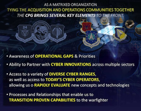 As a matrixed organization tying the acquisition and operations communities together, the CPG brings several key elements to the front.
