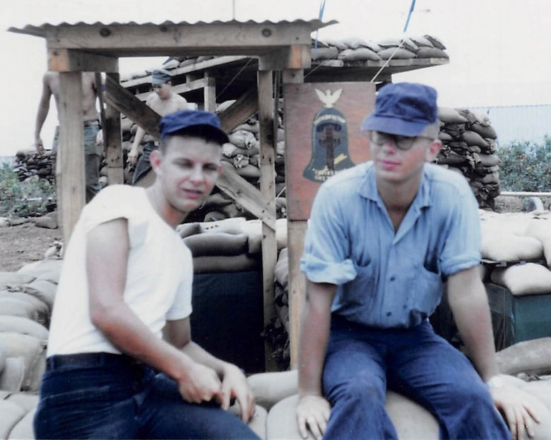 Alton Cornella, right, sits with a fellow sailor at Chu Lai Air Base, Vietnam in 1966. Cornella served four years in the U.S. Navy before moving to Rapid City, S.D., to marry his wife, Mariette, and start a refrigeration business, which he recently passed on to his eldest son, Scott, after 42 years. (Courtesy Photo)