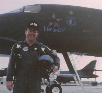 Alton Cornella, a civic leader and former business owner, stands in front of a B-1 bomber after an incentive flight at Ellsworth Air Force Base, S.D., in 1995. Serving as the honorary commander for both the 44th Missile Group and the 28th Bomb Wing, Cornella has worked closely with military leaders at all levels, and continues to serve as an active member of the South Dakota Board of Military Affairs. (Courtesy Photo)