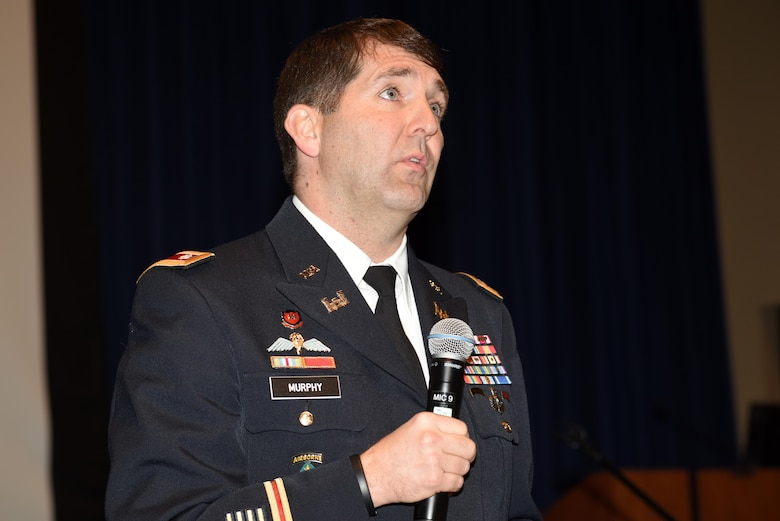 Lt. Col. Stephen Murphy, U.S. Army Corps of Engineers Nashville District commander, welcomes 280 small business leaders attending the 6th Annual Small Business Industry Day at the Tennessee Small Business Development Center at Tennessee State University in Nashville, Tenn.
