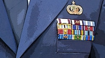 Awards and decorations on military dress uniform