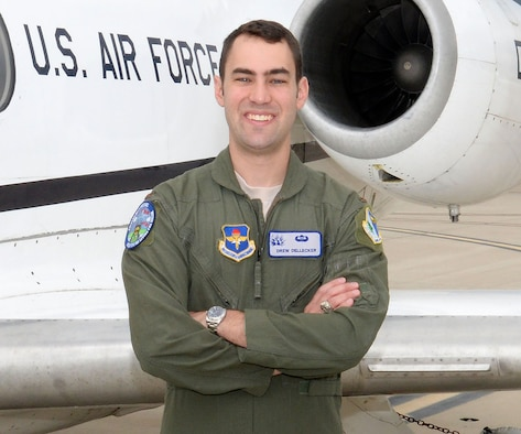"""First Lt. Frederick """"Drew"""" Dellecker was one of three killed in a U-28A crash at Cannon Air Force Base, N.M., March 14, 2017. Dellecker - a member of Class 15-09 who graduated at Laughlin AFB, May 21, 2015 - was a member of the 318th Special Operations Squadron. (U.S. Air Force photo/Airman 1st Class Brandon May)"""