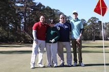 On March 17, 2017 MCES sponsored an Engineer Golf Tournament at the Paradise Point Golf Club to build camaraderie within the engineer community, family, and friends. Pictured are:  Mr. MikeFincham, Mrs. Mary Simpson, Mr. Greg Simpson, and Mr. Ian Heesacker.
