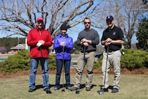 On March 17, 2017 MCES sponsored an Engineer Golf Tournament at the Paradise Point Golf Club to build camaraderie within the engineer community, family, and friends. Pictured are:  Major Barbaree, Master Sergeant Messina, Sergeant Major Gillespie, and Lieutenant Colonel Dienhart-Stabile.