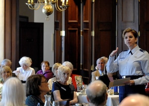 General Lori Robinson, North American Aerospace Defense Command and U.S. Northern Command commander, spoke to a full house Saturday afternoon at the Zebulon Pike Chapter of the Daughters of the American Revolution meeting.  More than 80 members, spouses and prospective members gathered at the El Paso Club in downtown Colorado Springs for lunch, socializing and to hear the service's highest ranking female speak about her role leading the only bi-national command in the world.  The general spoke about the complexity of the Commands' missions to defend the United States and Canada and the trust she has in the U.S. and Canadian service members who work daily to perform the missions.  Before closing, the general thanked the organization for their continued support of the military and for embracing the service members into the Colorado Springs community.