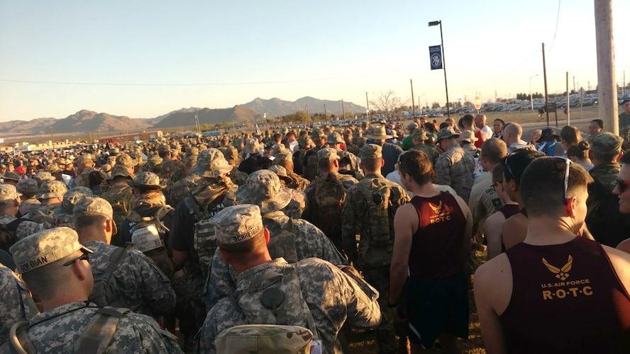 About 7,200 people participated in the Bataan Memorial Death March, a 26-mile march through the high desert terrain of the White Sands Missile Range, N.M. The memorial march is conducted in honor of the heroic service members who defended the Philippine Islands during World War II, sacrificing their freedom, health, and, in many cases, their very lives. (U.S. Air Force Photo/Senior Airman Chandler Baker)