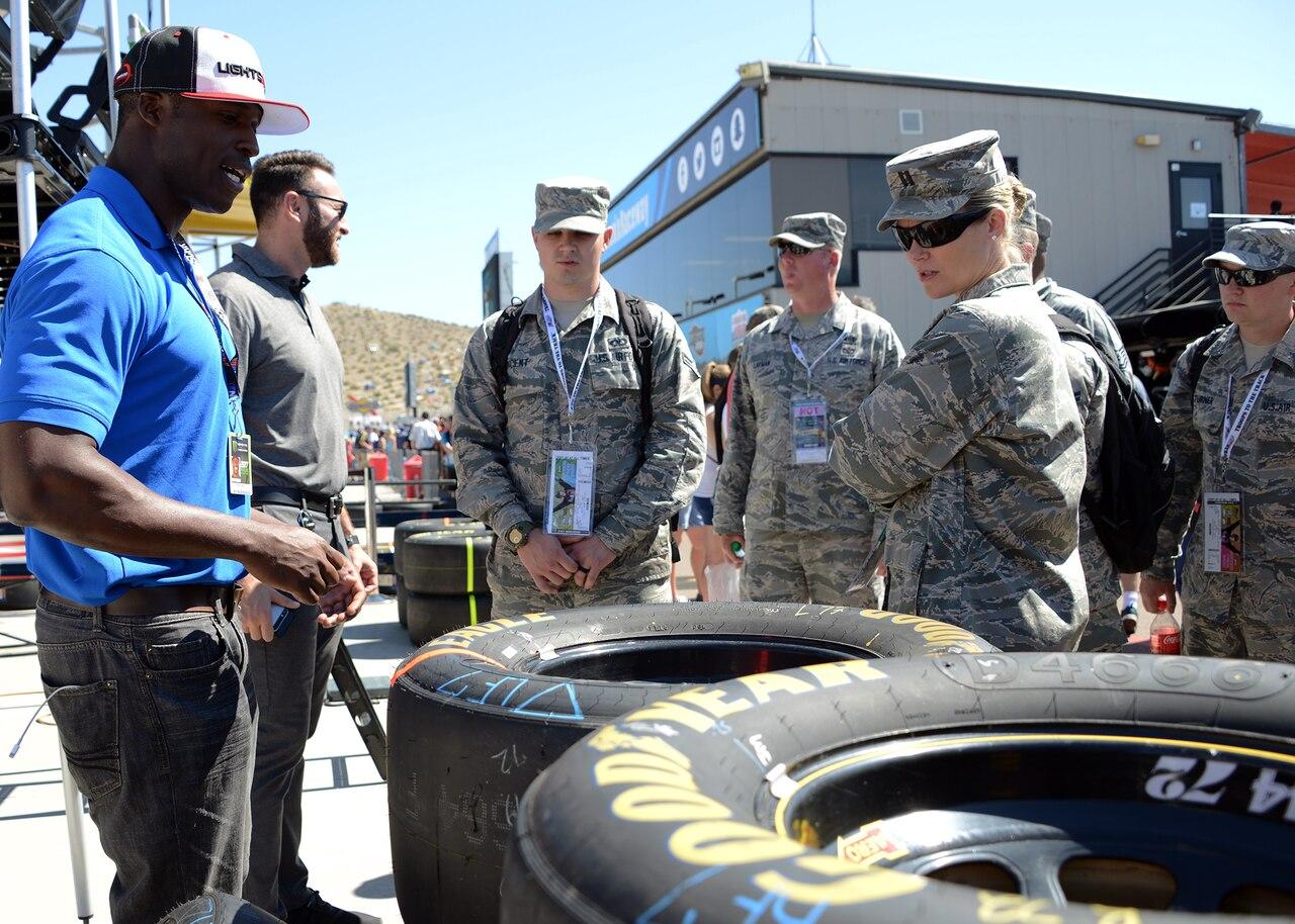 Airmen tour Las Vegas Motor Speedway