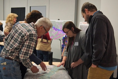A public meeting was held on February 16, 2017 in Longmont, Colorado to discuss the recently initiated flood risk management feasibility study along the St. Vrain Creek.