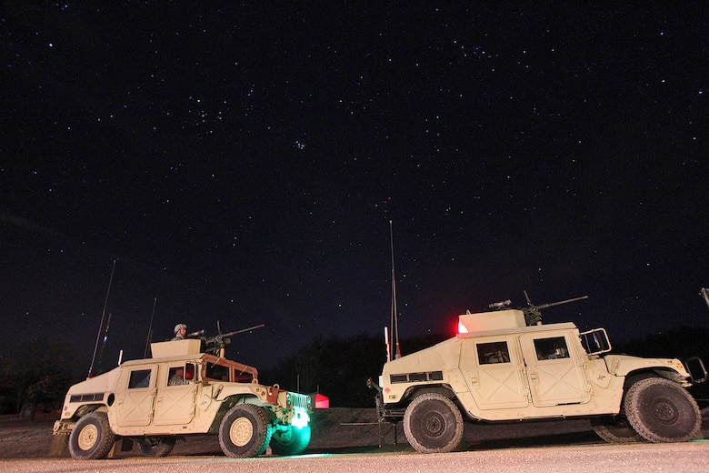 Vehicle gunnery crews stand by in their firing order ahead of a night live-fire gunnery qualification during the Operation Cold Steel exercise conducted at Fort McCoy, Wisconsin, Mar. 20, 2017. Operation Cold Steel is the U.S. Army Reserve's first large-scale live-fire training and crew-served weapons qualification and validation exercise. Cold Steel plays a critical role in ensuring that America's Army Reserve units and Soldiers are trained and ready to deploy on short-notice and bring combat-ready and lethal firepower in support of the Total Army and Joint Force partners anywhere in the world. In support of the Total Army Force, First Army Master Gunners participated in Cold Steel to provide expertise in crew level gunnery qualifications, and to develop Vehicle Crew Evaluator training, preparing units here and when they return to their home stations to conduct crew served weapons training and vehicle crew gunnery at the unit-level. 475 crews with an estimated 1,600 Army Reserve Soldiers will certify in M2, M19 and M240 Bravo gunner platforms across 12-day rotations through the seven-week exercise. 