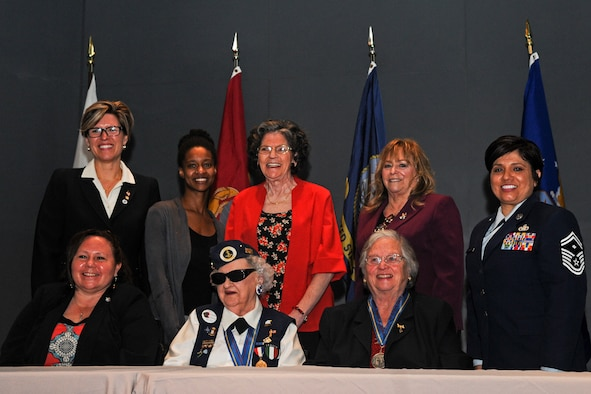 U.S. Air Force Senior Master Sgt. Tamara Gonzales, a First Sergeant with the 121st Air Refueling Wing, Ohio National Guard, participated in a Veterans panel discussion for women Mar. 10, 2017 at the Ohio History Center in Columbus, Ohio. The discussion was sponsored by the Ohio Department of Veterans Services in honor of Women's History Month. (U.S. Air National Guard photo by Senior Airman Wendy Kuhn)