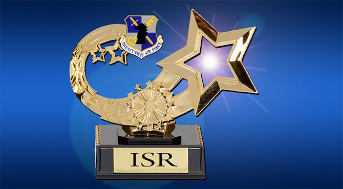 """The annual Air Force ISR awards distinguish the """"best of the best"""" among the thousands of outstanding Air Force ISR Airmen and units, according to the nomination instructions distributed earlier this fiscal year. (U.S. Air Force Graphic by Vincent Childress)"""