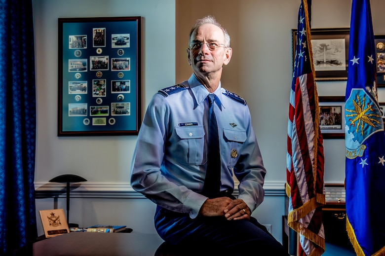 Lt. Gen. Mark Ediger, U.S. Air Force Surgeon General, photographed in his office at the Pentagon, July 8, 2016. Ediger retires from the Air Force, June 1, 2018. (U.S. Air Force photo by J.M. Eddins Jr.)