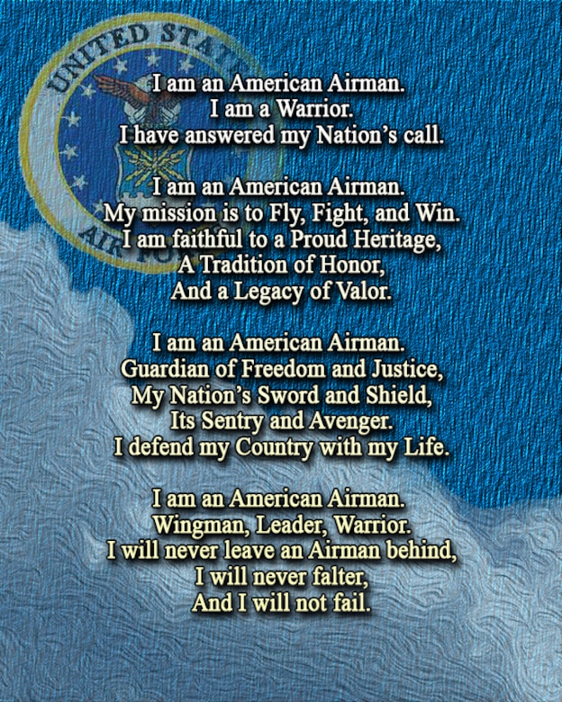 Warfighting ethos pride valor the airmans creed shaw air force the airmans creed was implemented in 2007 to inspire pride in airmen through reflection in the thecheapjerseys Images
