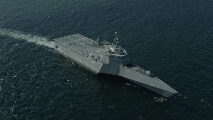 USS Montgomery (LCS 8) completed Final Contract Trials on March 17, marking the completion of the construction and initial operating testing of the Navy's eighth Littoral Combat Ship (LCS).